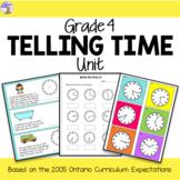 Telling Time Unit for Grade 4 (Ontario Curriculum)