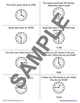 Telling Time Unit from Teacher's Clubhouse