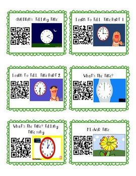 Telling Time Video QR Codes