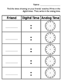 Telling Time Watch Hunt around-the-room