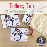 Telling Time Winter Clip Cards