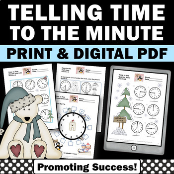 Telling Time Worksheets By Promoting Success  Teachers Pay Teachers