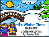 Telling Time Winter Themed Math Centers