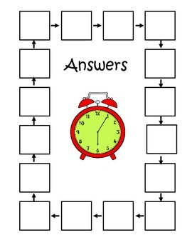 Telling Time With Analog Clocks Scavenger Hunt Second Grade 2.MD.C.7