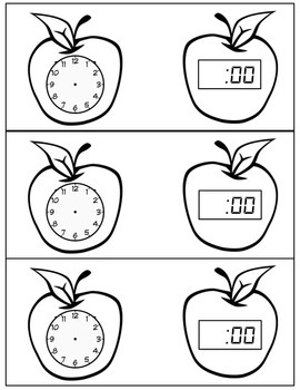 Free Telling Time Activities: Analog & Digital Time to the Hour & Half Hour