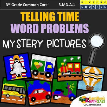 3rd Grade Elapsed Time Worksheets Mystery Pictures Coloring Activity