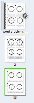 Telling Time Word Problems 1st-2nd
