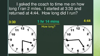Telling Time Word Problems (Elapsed Time)