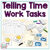 Telling Time Work Tasks ( Time Awareness Task Boxes With Data Sheets)