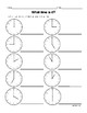 Telling Time Worksheet Bundle