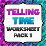 Telling Time Worksheet Pack 1