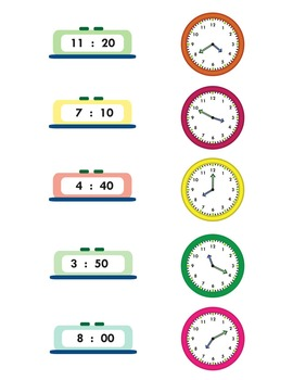 telling time worksheets by easy peasy learners tpt. Black Bedroom Furniture Sets. Home Design Ideas