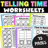 Telling Time Worksheets 2nd Grade