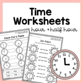 Telling Time Worksheets/Activities (Hour & Half Hour)