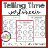 Telling Time Worksheets - All Intervals
