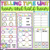 Telling Time Worksheets: First Grade: Time by the Hour and Half Hour