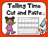 Telling Time Worksheets Match Cut and Paste, Analog and Digital Clocks 1.MD.B.3