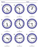 Telling Time Worksheets MathNook
