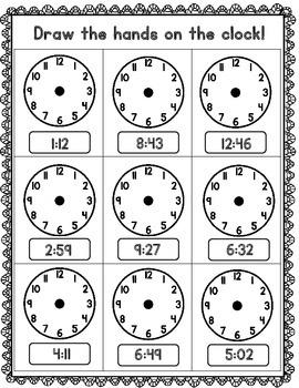 Telling Time Worksheets Set 2