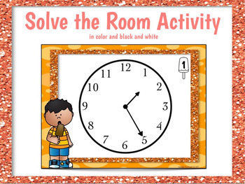 Telling Time to the Nearest 5 Minutes Worksheets and Centers