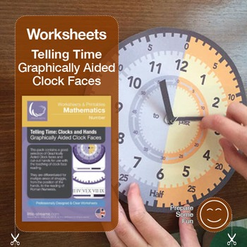 Telling Time | Worksheets and Visual Aids | Graphic Clocks