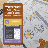 Telling Time | Worksheets/Printables | Five and Minute Int