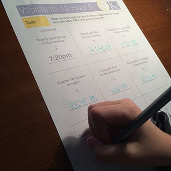 Telling Time   Worksheets/Printables   Telling the Time without a Clock Face
