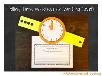 Telling Time Wristwatch Craftivity