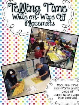 Telling Time Write On-Wipe Off Placemat