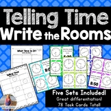 Telling Time Write the Room Task Cards *FIVE SETS!*