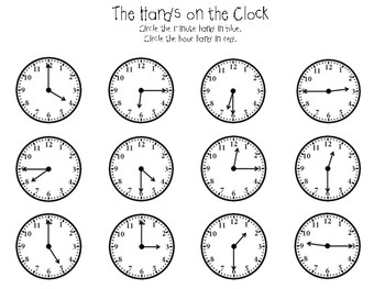 Telling Time and Counting Coins Activity Bundle