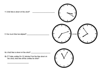 Telling Time and Elapsed Review