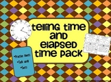 Telling Time and Elapsed Time Pack