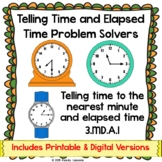 3rd Grade Telling Time to the Minute Worksheets & Elapsed Time Worksheets 3.MD.1