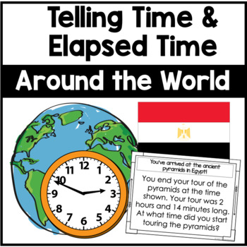 Telling Time and Elapsed Time Review- Elapsed Time Race