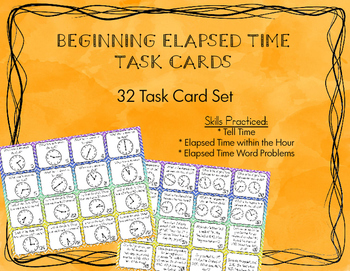 Telling Time and Elapsed Time Task Cards