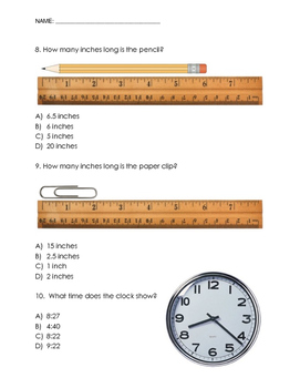 Telling Time and Measurement Mixed Review