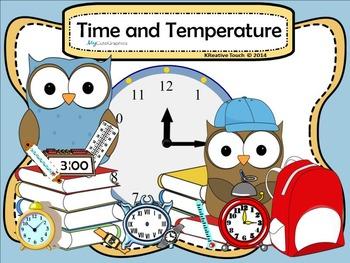 Telling Time and Temperature SmartBoard Unit