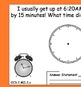 Telling Time and Using Clocks - Common Core Aligned