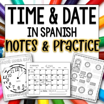 Time Worksheets Spanish Teaching Resources Teachers Pay Teachers