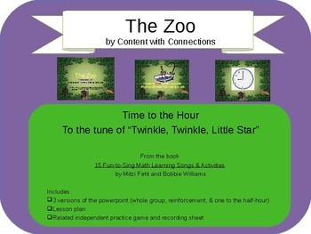 Telling Time at the Zoo Powerpoint Lesson (Analog, Digital Clocks)