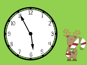Telling Time by 5 Minutes--Christmas Theme