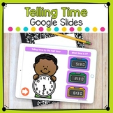 Telling Time by the Half Hour Digital Task Cards Distance Learning