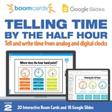 Telling Time by the Half Hour | Interactive Boom Cards™ an