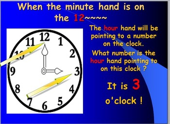 Telling Time by the Hour
