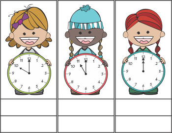Telling Time by the Hour Cut and Paste Activity
