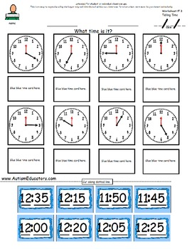 Telling Time for First/Second Grade & Special Needs Students {Interactive Book}