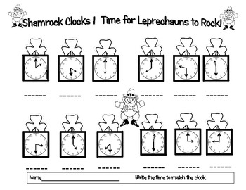Telling Time for March! Leprechauns Rock with the Clocks!