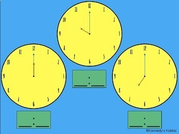 Telling Time (hour and half hour) (Great for Google Classroom!)