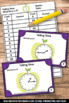 Telling Time to Quarter Hour Games, Every 15 Minutes, 1st Grade Math Review